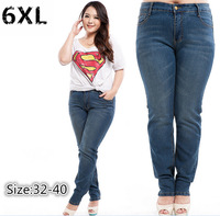 2015 Large size women plus fertilizer to increase the export trade in Europe and America stretch jeans pants feet