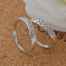 2Pcs Silver Couple Gothic Love Rings for Women Anillos Anel Masculino Prata 925 Men Wedding Ring
