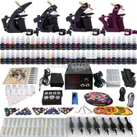Complete Tattoo Kit 2 Pro Machine Guns 54 Inks Power Supply Needle Grips TK457