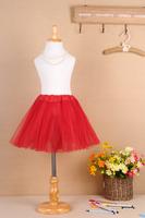 2014 Free Shipping Top Quality Hot Pink Ribbons Edged Tutu Child Dance Tutu Ballet Girl  Pencil Skirts Tutu Skirts