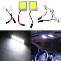 Aluminum T10 24 SMD Dome Festoon Car Interior License Plate COB LED Lamps Light