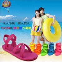 Diy 2014 Sandals Flat Sandals Vietnam Rubber Jelly Shoes Sandals Hole Shoes