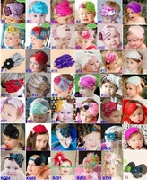 New Fashion Hot Infant Baby Girl Toddler Cute Hair Accessories Kids Feather Hair Band Headband Cotton Elastic Chiffon Flower