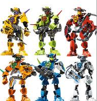 6 Set Star War Super Hero Factory 2.0 Robot Action Figures Building Blocks Toys