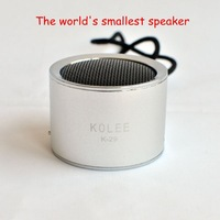 New Portable Mini Card Speaker K29 Metal Stereo Mp3 Music Player Speaker Support TF Card,USB Flash Drives Free Shipping