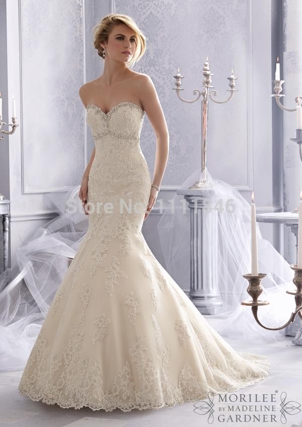Famous Designer Bridal Mermaid Wedding Dresses 2015 Sexy Open Back Court Train Lace Wedding Dress Custom Made vestido de noiva(China (Mainland))