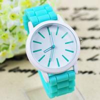 12 Colors Geneva Brand Ladies Quartz Clock Casual Relogio Feminino Women's Fashion Watches Silicone Strap Women Dress Wristwatch