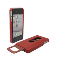 red Stainless steel Happy Life-Bottle Opener Case for iPhone 4 4S +1Pcs Tracking number Free shipping