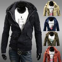 Black blue green solid stylish design double collar Mens coat men's jackets jaquetas masculinas man military down jacket hoodies
