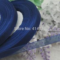 "100Y 3/8"" (10 mm) Sheer Wedding Appliques Craft sewing S054-Deep Blue"