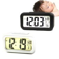2015 Light Control LCD Display Digital Snooze Digital Alarm Clock LED Backlight
