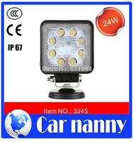 Wholesale DIY Square 24W High brightness car led DRL Motorcycles/ SUV headlight refit construction vehicles Spotlight