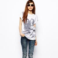 Lennon richcoco fashion print o-neck short-sleeve T-shirt d385