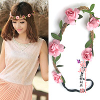 Hot New Artificial flowers Wreath Sets/Garland Wedding Bride Girl Hair Accessory(