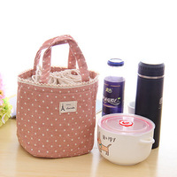 Pink Lady Lunch Box Bag Cotton And Linen Color Random 17*14*16cm