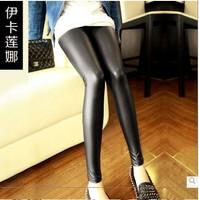 2014 autumn  models leather leggings feet influx of Korean matt outer wear long pants leggings leather pants big yards fat mm