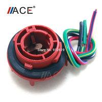 LED Bulb Socket Harness Plug&Play Adapter For Car Extra Turn Brake Signal Light 1157 S25 Bay15D Rear Brake Lamp No Need Welding