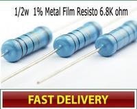 CSCASES (400PCS/LOT) 1/2w Watt 6.8Kohm 6.8K ohm Metal Film Resistor 0.5W 1%,free shipping, Factory directly price