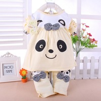 multicolor NEW Panda shaped Lovely Boy girl  cotton underwear princess suits,winter baby,Knitte children Keep warm 2color gifts