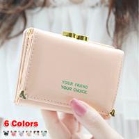 New 2014 Ms paint bright surface double Angle love rivet short design woman wallets handbag pursues - Free Shipping - W101