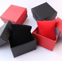 8.5*8*5.3cm Hot Sell 6Pcs/lot Black Blue Red Colors Watch Box with Pillow Package Case Watch Bracelet Jewelry Packaging Boxes