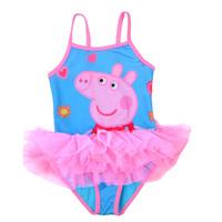 Peppa Pig Swimwear,New Cartoon Swimsuit Girls Flowers Beach Wear Lace Tutu Jumpsuit Kids Rompers Free Shipping BB-46FROZEN