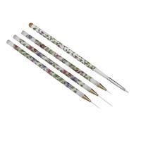 4PCS Professional Gel UV Nail Print Brush Tool Nail Art Design Painting Kit Pen