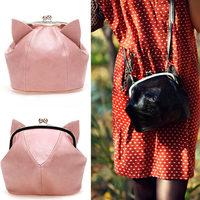 New Arrival 2014 Lovely Cat Bags Women's Handbag Small Shoulder Bag Bad Girl Lolita Anime Ear Cute Crossbody Bags Clutch