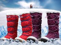 Retail fashion boots for children plush warm children's footwear new 2014 waterproof winter boots windproof warm snow kids boots