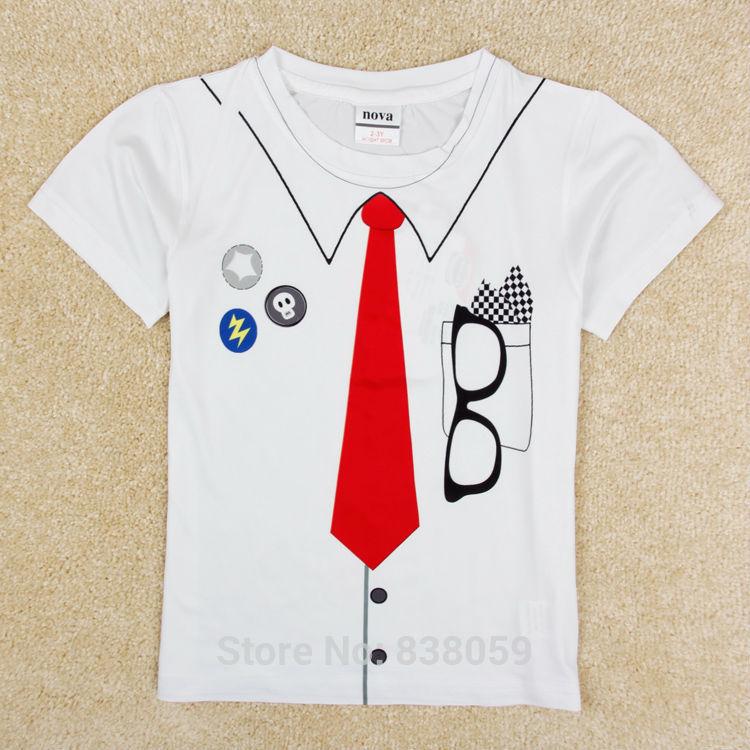as crianças usam óculos impresso meninos roupas designer nova marca miúdos novos meninos algodão do vestuário meninos t-shirt c5375 por lote(China (Mainland))