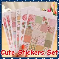 [FORREST SHOP] Cute Korean School Stationery Kawaii Stickers / Flower Diary Stickers / Scrapbook Decoration Sticker UP-6161