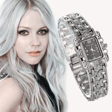 2014 New Hot Fashion Women Bracelet Bangle Wave Rhinestone Crystal Wrist Watches Ladies Luxury Casual watches Original Relogio(China (Mainland))