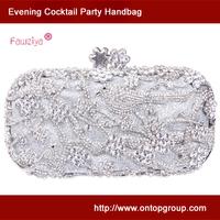 Birds on tree pattern palm clasp handbag - evening club party bag - women gender wedding clutch