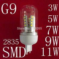 10pcs/lot LED lamps G9 3W 5W 7W 9W 11W 2835SMD led lights cold white/warm white AC220V led bulb