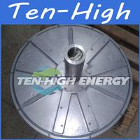 Fedex freeshipping! 5000W/5KW 120RPM Disc coreless permanent magnetism vertical axis alternator/wind generator motor