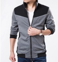 2014 Zipper jacket small coat, cultivate one's morality men's fashion autumn outfit  free shipping  L XL 2XL 3XL