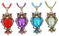 Diamond Owl Necklace Pendant Owl Jewelry Wholesale Special Gift