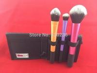 50sets/lot Makeup Brushes New Gold 8pc Cosmetics Set Foundation Blending Blush Eye Shadow Wooden Makeup Tool 3pcs 4pcs 5pcs/set