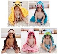 2014 baby children boys girls cute animal design soft bathrobe bath towel nighty 0~24 months 90CM*90CM free shipping