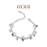 ROXI 2014 New Fashion Jewelry Platinum Plated Statement Colorful Stones Bracelets For Women Party Wedding Free Shipping