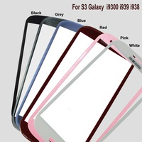 Front Outer Replacement Touch Screen Digitizer Colorful Glass Lens For Samsung Galaxy S3 Glass SIII For Model I9300 I939 I9308