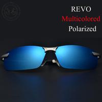 Aluminum magnesium alloy polarized Sunglasses High Quality Revo multicolored polarized lens for drving fishing