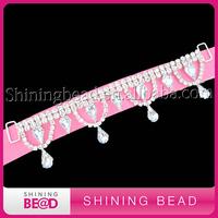 Wholesale crystal rhinestone connector for bikini decoration