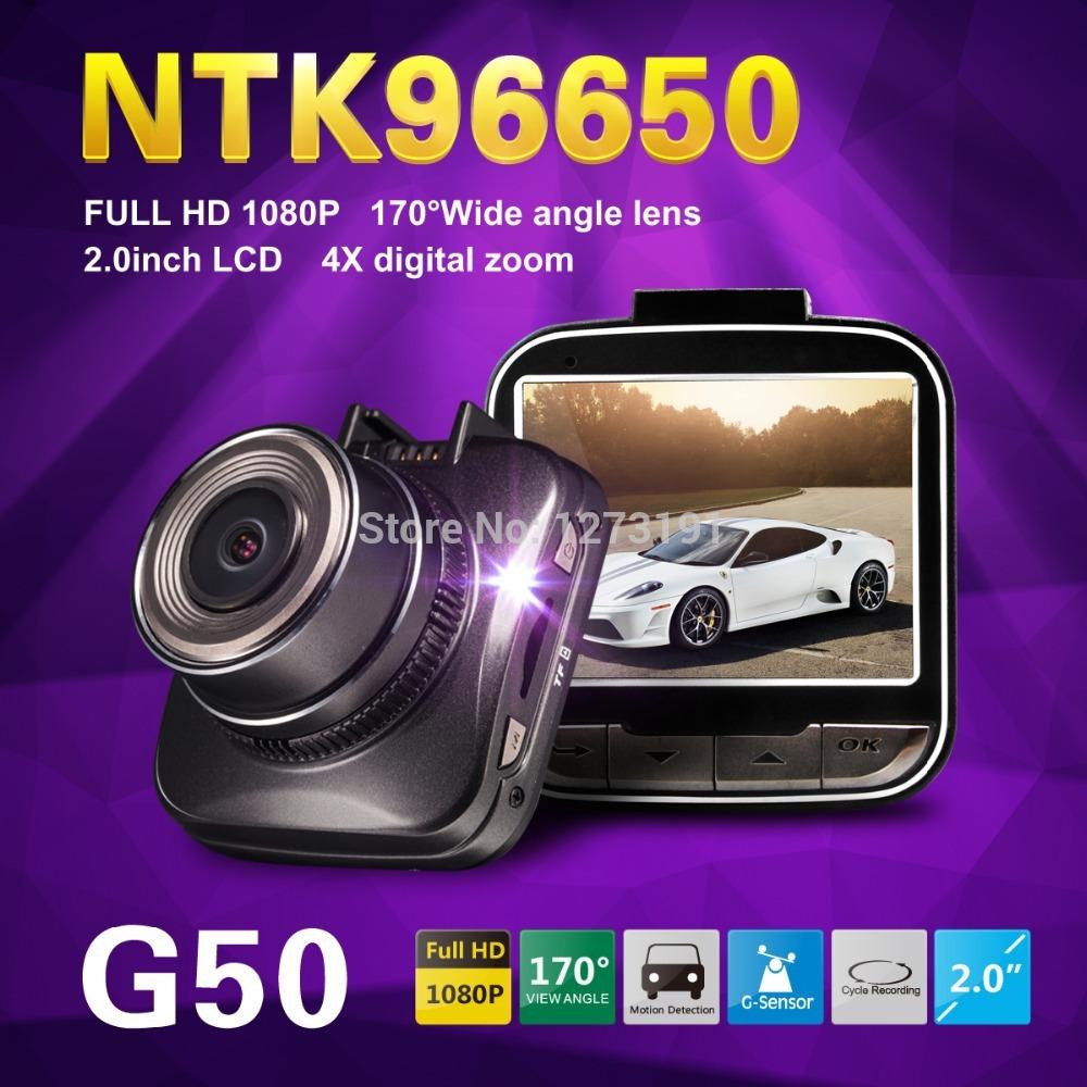 G50 Novatek 96650 car dvr full hd 1080p car camera Recorder 2.0' LCD+170degree wide angle+HDMI+built-in battery+usb+led Display(China (Mainland))