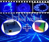1W 1000mW Blue Animation laser light DMX512 ILDA DJ KTV Club Bar Xmas home Party lights+V2.3 ishow software