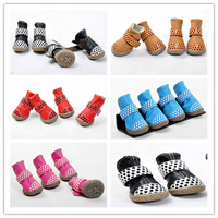 Free shipping new style  PU leather pet dog puppy autumn fall winter snow warm fashion boot shoes  XS/S/M/L/XL 1set for sell ]