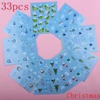 33pcs Water Slide Nail Art Decals Christmas Free Shipping