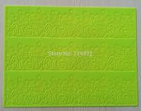 1Pcs (CT-009-2)  Sunflower Shapes Lace Soft 100% Platinum Silicone Cake Fondant Embossing Gum Paste Decorating Mold Tools