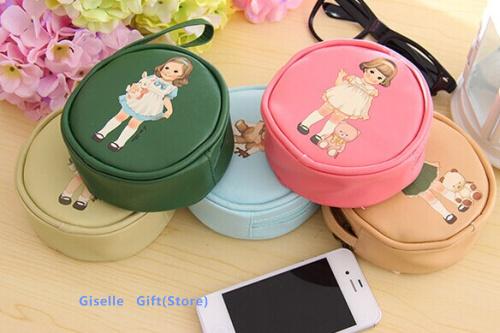 Каваи кукла 11 см наручные PU портмоне бумажник чехол ; мини и ключи от машины сумка держатель чехол бумажник мешок-женщины чехол