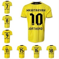 NEW 14 15  Best thai quality New Season 14/15 Borussia Dortmund Soccer Jerseys Aubameyang Marco Reus Jerseys